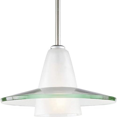 high quality Progress discount Lighting P5011-09 Glass Pendants, outlet sale 12-Inch Diameter x 7-5/8-Inch Height, Nickel online sale