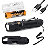 Fenix PD36R 1600 Lumen USB-C Rechargeable Tactical Flashlight with Fenix Battery and LumenTac Battery Organizer