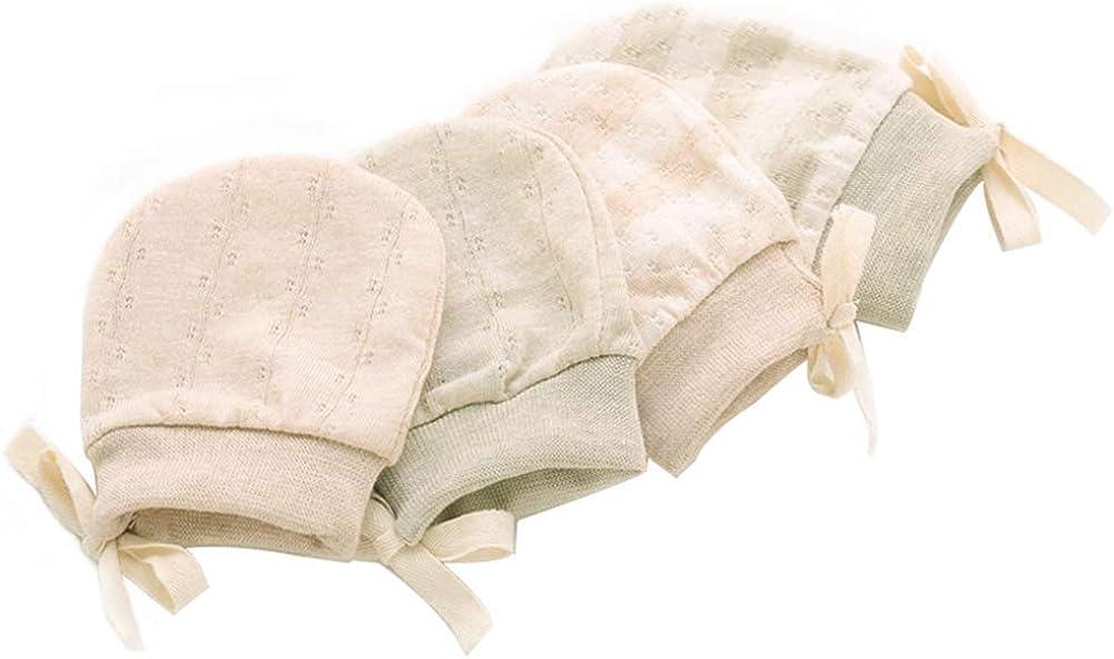 Adeimoo Newborn Mittens Cotton No Scratch Unisex Infants Baby Gloves for Boys Girls