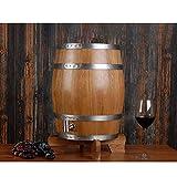SS mutong Barril de Roble 10L Barril de Vino de Madera de Roble Vintage, for Almacenamiento y envejecimiento de Vino y Bebidas, con Soporte Vino, Cerveza, Sidra, Whisky. (Color : B, Size : 10L)