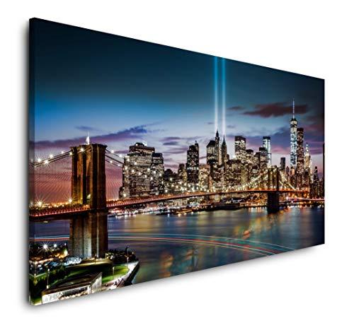 Paul Sinus Art New York City Skyline 120x 60cm Panorama Leinwand Bild XXL Format Wandbilder Wohnzimmer Wohnung Deko Kunstdrucke