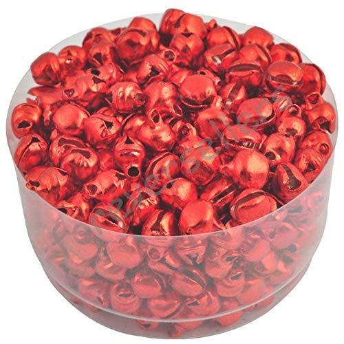 Koop 6 MM 100 stks/partij Loos Kleine Kerst Jingle Bells Decoratie Kleurrijk/Mix Colore Party DIY kralen, rood