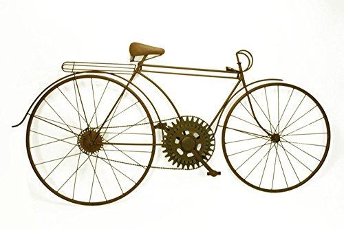 CAPRILO Adorno de Pared Decorativo Bicicleta Retro. Cuadros y Apliques. 121 x 4 x 61 cm.