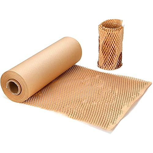 Amortiguación de nido de abeja protector Papel Kraft Rollo ,papel embalaje mudanza Para Envolver Productos Frágiles En Transportes y Mudanzas(38cm*50m)