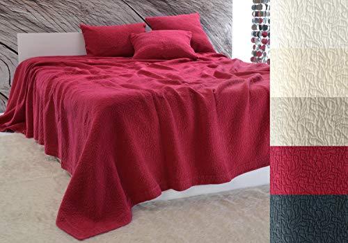 Baumwolldecken Wohnen und Accessoires Edle Tagesdecke Estoril Paisley Muster rot 180x260
