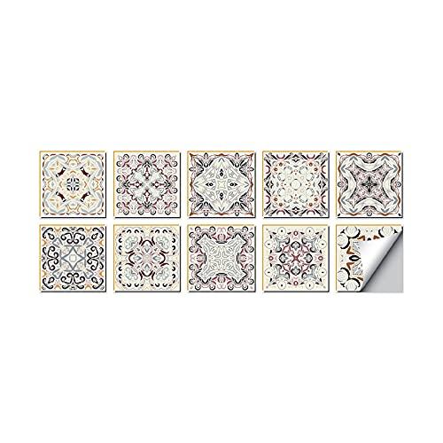 10pcs de mármol del azulejo decorativo etiquetas autoadhesivas decoración de paredes, Tipo 25, 20x20cm