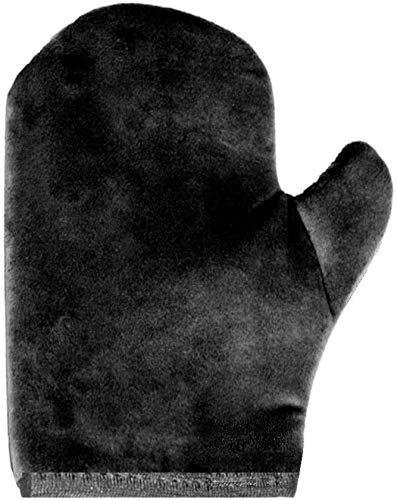 Luxury Velvet Self Tan Mitt – BEST Reusable Fake Tan Applicator Mitt - Longest-Lasting Streak-free Premium Self Tanning Application Mitten Glove, Soft Touch - Perfect for Cream Lotion Mousse Spray
