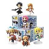 HHAA Figuras Anime 6 Unids/Lote Sword Art Online 2 Figuras Kirito Asuna Leafa Lisbeth Silica Fairy Dance Sao Mini Modelo De Muñecas