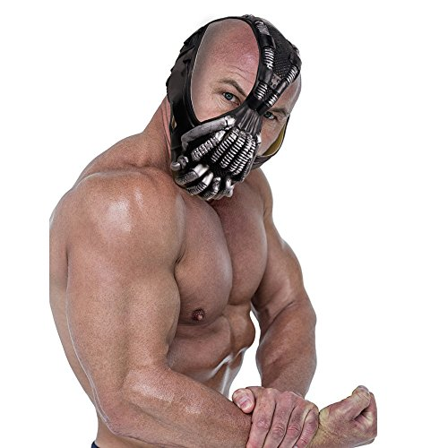 Bane Mask for Adult,the dark knight Rise Cool Men's full face halloween cosplay costume PVC black