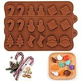 Premium Antiadherente Moldes para tartas (Set de 2), FantasyDay Moldes de Silicona para Caramelos, Chocolate, Hornear, Tarta, Galletas, Jabón, Hielo - Antiadherente Apto Para Lavavajillas Y Microondas - Calcetín de Navidad