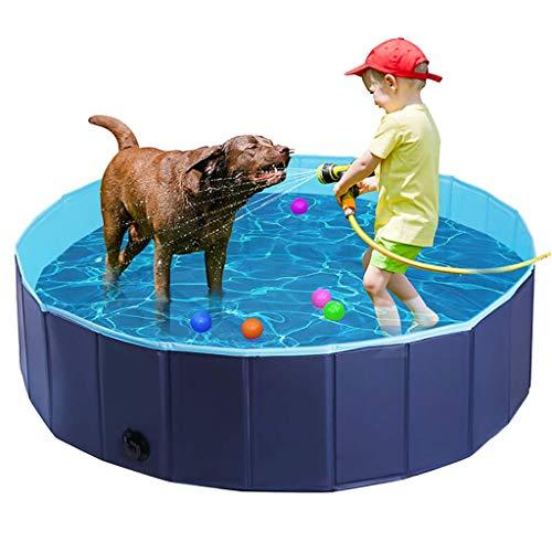 XBBLGDD Pet PVC Piscina Plegable Portátil Piscina Perros Gatos Piscinas Baño Hidromasaje Bañera Agua Estanque Animal Doméstico Piscina Infantil para Niños Plástico Duro Piscina El Jardín