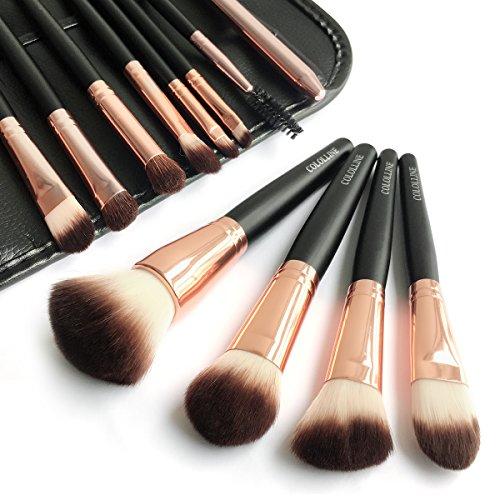Cololline メイクブラシ 12本セット 化粧筆 フェイスブラシ 高級タクロン 専用ポーチ付
