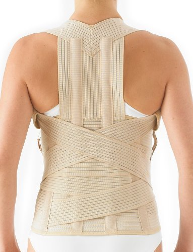 Neo G Dorsolumbar Support Brace - Back Support For Early Kyphosis, Rounded Shoulders, Posture Correction, Muscular Aches, Lumbar Support - Fully Adjustable - Class 1 Medical Device - Large - Tan