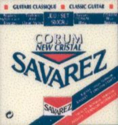 CUERDAS GUITARRA CLASICA - Savarez (500/CRJ) Corum New Crystal Roja/Azul (Juego Completo)