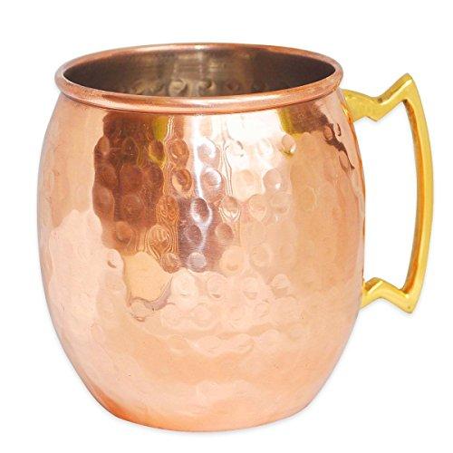 Prisha Inde Craft ® cuivre Mug pour Moscou mulets 560 ML / 18 oz , à l'intérieur Nickle martelé Meilleure qualité