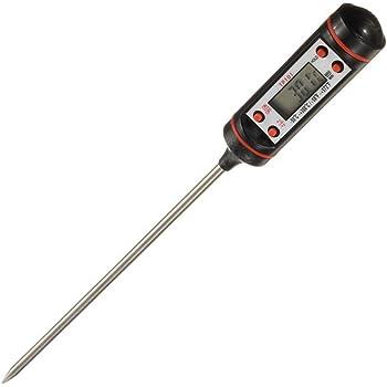 E-db Fleischthermometer Grillthermometer Digitale Küchenthermometer LCD-Bildschirm Haushaltsthermomete, Ideal für BBQ Baby-Ernährung usw.