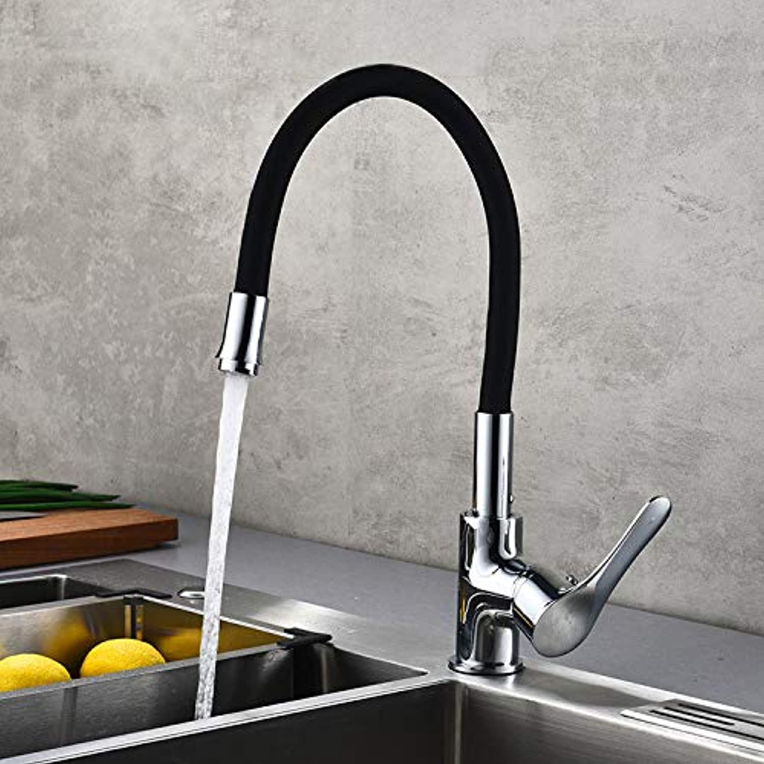 redOOY Kitchen sink full copper body tube kitchen hot and cold faucet sink sink faucet kitchen redatable basin faucet