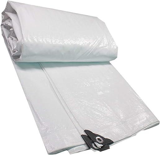 Bache légère, polyéthylène blanc double toile de prougeection solaire imperméable PE toile tissée en plastique tissé galvanisé Production de rideau d'isolation de jardin de couverture d'usine de couvert