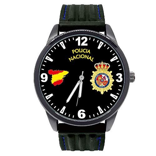 Reloj G&B Policía Nacional Esfera Negra Correa Caucho