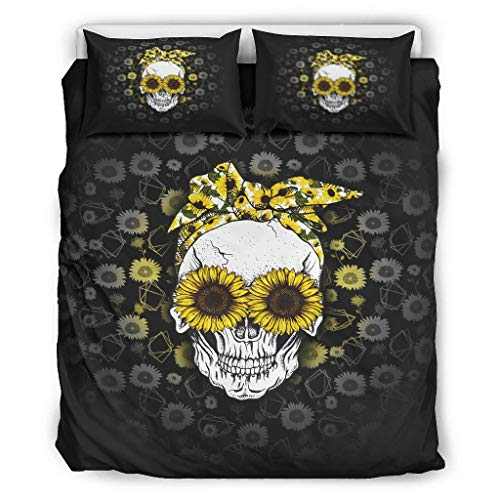 O2ECH-8 Juego de ropa de cama (3 piezas, funda de almohada y fundas de almohada, resistente a la luz, estilo europeo, 229 x 229 cm), color blanco
