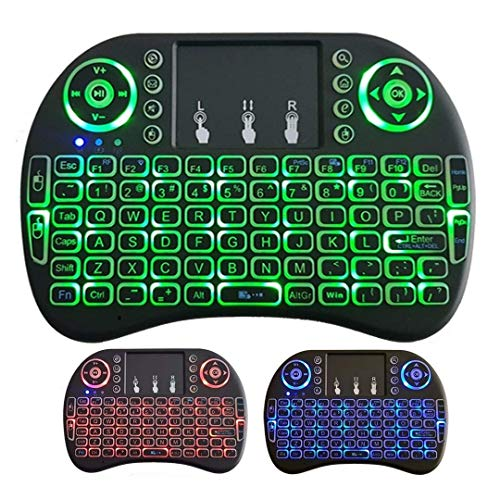 Mini Teclado Sem fio Iluminado Touch 3 Cores Led Tv box, Ps4, xbox,