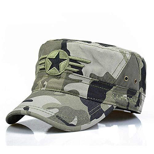 GorrasDeHombre Sombreros Gorras Snapback para Hombres Sombrero Sombreros De Camuflaje con Parte Superior Plana Ajustable Camuflaje De 54-62 Cm