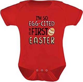 Body infantil Tstars I'm So Egg-Cited It's My First Easter