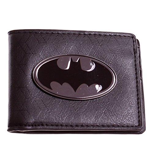 DC Comics Batman Gunmetal Logo Bifold Wallet Black