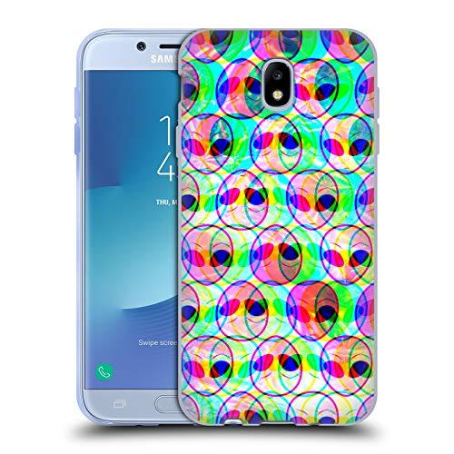 Head Case Designs Licenza Ufficiale Haroulita Problema Alieno Spazi Grafici Cover in Morbido Gel Compatibile con Samsung Galaxy J7 2017 / PRO