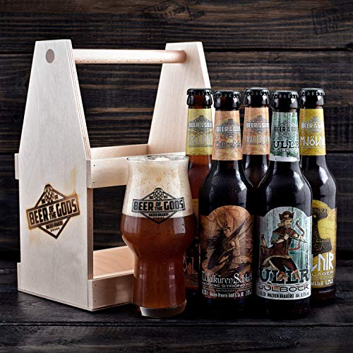 WACKEN BRAUEREI Craft Beer Tasting Geschenkset 5 x 0,33 l verschiedene Sorten + Bierglas BEER OF THE GODS | Eine Handvoll Götter | Viking Craftbeer Set Gift for Men | Wikinger Geschenk Männer - 3