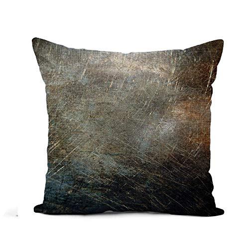 Throw Pillow Cover Blue Rust Rayado Metal Plata Rusty Dirty Áspero Sábana Funda de Almohada Decoración para el hogar Funda de Almohada de Lino de algodón Cuadrada Funda de cojín