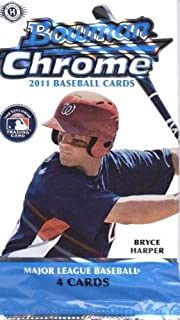 2011 Bowman Chrome Baseball Cards: Hobby Pack (4 Cards/Pack) (1 Random Pack) (Mike Trout Rookies?)