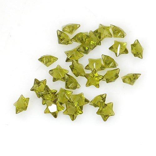 ANDANTE - FLOATING CHARMS Medallita colgante – Piedras preciosas Estrellas (verde aceituna)