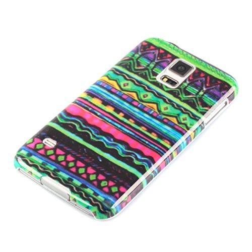 deinPhone Zig Zag Pattern - Funda para móvil Samsung Galaxy S5, multicolor