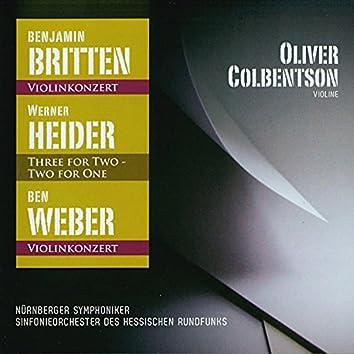 Britten - Heider - Weber (Oliver Colbentson - Violine)