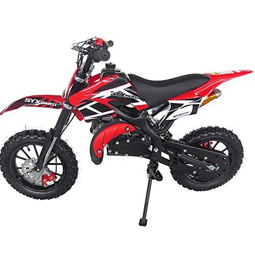 SYX MOTO Kids Dirt Bike Holeshot 50cc Gas Power Mini Dirt Bike (Red)