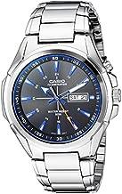 Casio Men's Super Illuminator Quartz Watch with Stainless-Steel Strap, Silver, 22 (Model: MTP-E200D-1A2VCF)