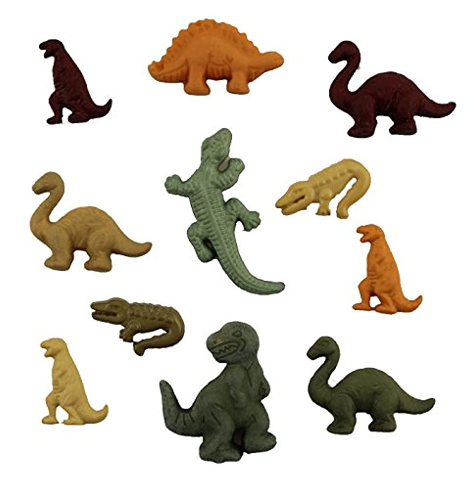 Buttons Galore Childhood Dinosaurs Assorted Sizes Buttons