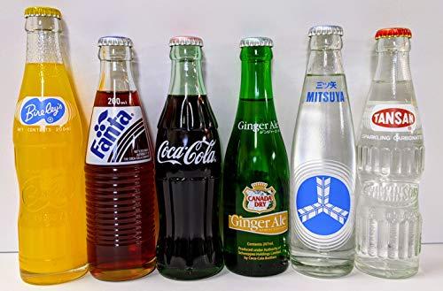 瓶ジュースオリジナルセット6種類各4本ずつ 計24本(コカコーラ ファンタグレープ カナダドライジンジャーエール バヤリースオレンジ 三ツ矢サイダー ウィルキンソン炭酸)