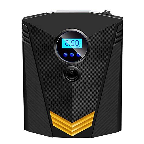 Wangt draagbare autobandenpomp, 12 V DC, LED-licht, digitaal LCD-display, luchtcompressorpomp voor auto, fiets, motorfiets