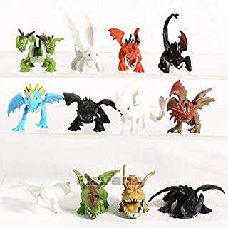 TIKIDA 3 The Hidden World Night Fury Mini PVC Figures Toys Set Children's Kid's Gifts Must Have Toys Baby Girl Gifts My Favourite 4T Superhero UNbox Switch