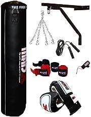 MADX - Juego de saco de boxeo con guantes y accesorios (7 unidades)