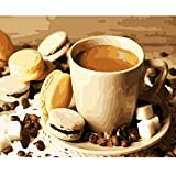 AZYVv Holz Puzzle DIY Puzzles 1000 Stück Nachmittagstee Kaffee Keks Kunst Besonderes Geschenk Freizeit Spiel Spielzeug Dekoration