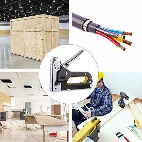 3 in 1 Heavy Duty Staple Gun with Staple Remover, Hand Operated Stainless Steel Stapler Brad Nail Gun, Furniture Stapler, Upholstery Staples, Upholstery Gun, 1050 Staples Attached Photo #7
