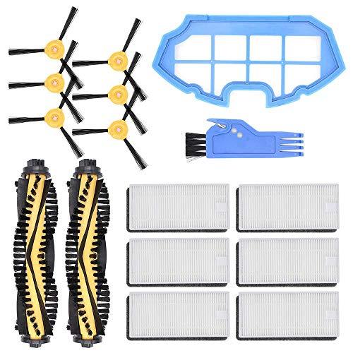 Mogzank para Kit de Accesorios Deebot N79 N79S Robot Aspirador, Paquete de Piezas de Repuesto de 2 Cepillos Principales