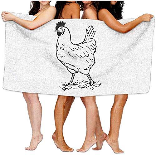 Edmun Envoltura de Toallas de baño para Mujeres Rooster Travel Waffle SPA Envoltura de Toallas de Playa para Mujeres