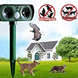 Cat Repellent Garden Ultrasonic Solar Powered Animal Repeller Cat Dog Fox Pest Deterrent