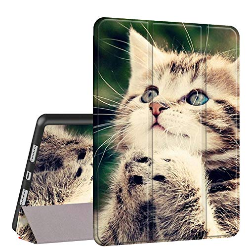iPad Air 10.5 (3rd Gen) 2019/Pro 10.5 2017 Case, Rossy PU Leather Shock Trifold Stand Folio Smart Cover with Auto Wake/Sleep & Pencil Holder for Apple iPad Air 3rd Gen,Cute Kitten Praying