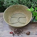 Simple cestas de almacenamiento cesta cesta del almacenaje almacenaje de la rota de mimbre Cesta plegable alga marina Dirty Laundry cesta del almacenaje de la casa for guardar Decoración Organizador i