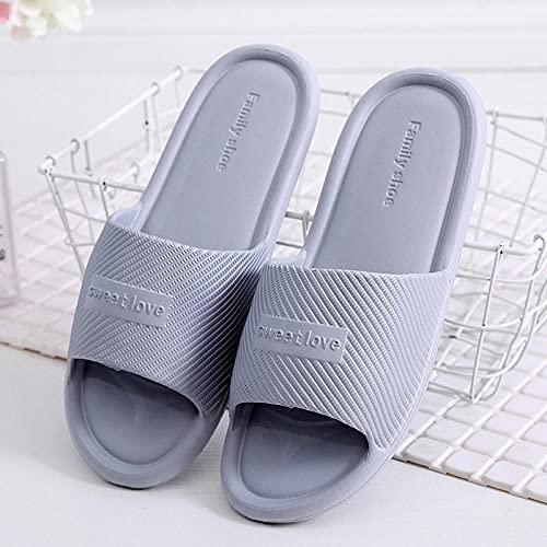 Zapatillas Casa Chanclas Sandalias Chanclas Antideslizantes Unisex Sandalias Planas De Interior Hombres Mujeres Zapatillas Cómodas Zapatos Suaves Zapatillas De Moda De Baño-Gray_44